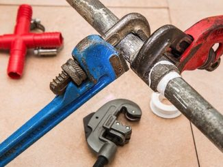 Plumbing wrenches and pipe